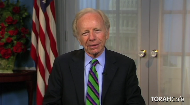 This video greeting was sent by Connecticut Senator Joseph Lieberman to the 800 participants of the 2011 National Jewish Retreat,  who were gathered in his home state to take part in this annual 5-day event.  His remarks reflect his great respect and encouragement for the participants who have dedicated their time to learning more about their Jewish identity.   Senator Lieberman touches upon the subject of his new book, The Gift of Rest: Rediscovering the Beauty of the Sabbath.  An admirer of the Lubavitcher Rebbe, he quotes the Rebbe's profound insight into the meaning of the 7th day. Senator Lieberman offers the perspective that the Sabbath can be understood as a gift of time to appreciate that which is perfect in the world.