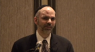 Rabbi Reiss shares a personal anecdote, while introducing to the audience at the NJR his expertise in both Jewish Law as the Chief Dayan at the Beth Din of America, and as a lawyer who studied in New England, and practiced for 10 years in the NY area..