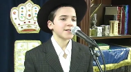 Boruch Tzfasman, a promising young singer, sings the popular song Ose Shalom.