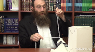 IMPORTANT:It has been brought to my attention that knotting together the 4 strings to keep them distinguishable isn't preferred, rather, to clip them with a paper clip or the like.  Rabbi Levi Kaplan .