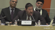Rabbi Yakov D. Cohen speaks at the UN about the Rebbe's universal message of peace and unity for all of mankind.
