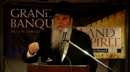 This talk was given at the Grand Banquet of the Land and the Spirit: Mission to Israel 2008, a week after Purim. Rabbi Kotlarsky brings a lesson from the Megillah and explains how vital it is to not only enjoy your time in a holy place like Israel, but to take the spirituality back with you and actually change and become a better person.