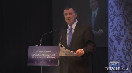 Mr. Yuli Edelstein addresses the annual Shluchim conference. He recalls the sacrifice of the Chabad shluchim in Soviet Russia during his imprisonment there and the influence of the Lubavicher Rebbe during his time at the Knesset.    .