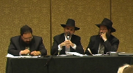 Whether it's a debate about air space rights over a sukkah or who owes who for a business trip that met with disaster, a modern day Beit Din deals with all forms of cases. In this session, you will participate in each case as it is presented, analyzed and adjudicated within the framework of Halachah. Watch and get involved as the panel of judges reaches a verdict and resolution