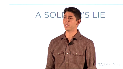 """""""A Soldier's Lie"""" is a talk given by Izzy Ezagui as part of a fast-paced session called """"Ten Talks"""" featuring 10 short powertalks from 10 inspiring speakers, showcasing important ideas that change attitudes, lives, and, ultimately, the world."""