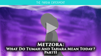We suggested last week that death is the thread that ties the cases of tumah together. This week, in Metzora, we'll dive a little deeper to find the meaning embedded in the strange rituals of becoming tahor, ritually pure.